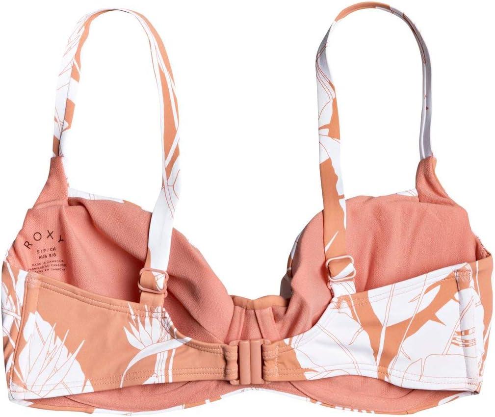 Roxy Printed Beach Classics-Top de Bikini Copa D con Aros para Mujer Tiki Triangular