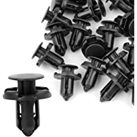 uxcell® Nylon Rivet Fastener Mud Flaps Bumper Fender Push in Clips 9mm Hole 30 Pcs for Mitsubishi