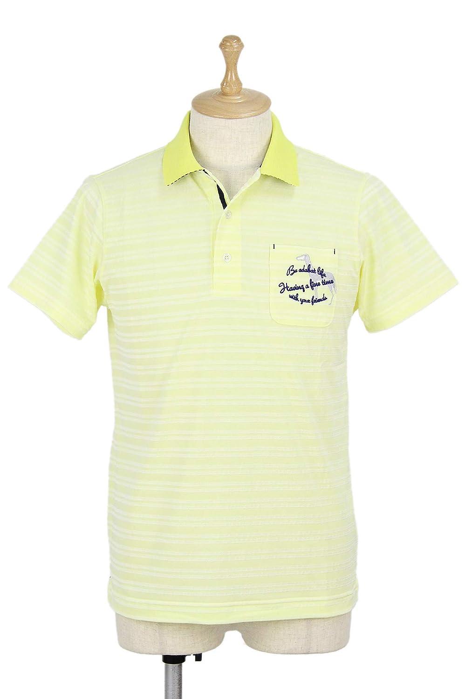 ポロシャツ メンズ アダバット adabat 2019 春夏 ゴルフウェア 643-16530 M(46) イエロー(030) B07QX5PK1K