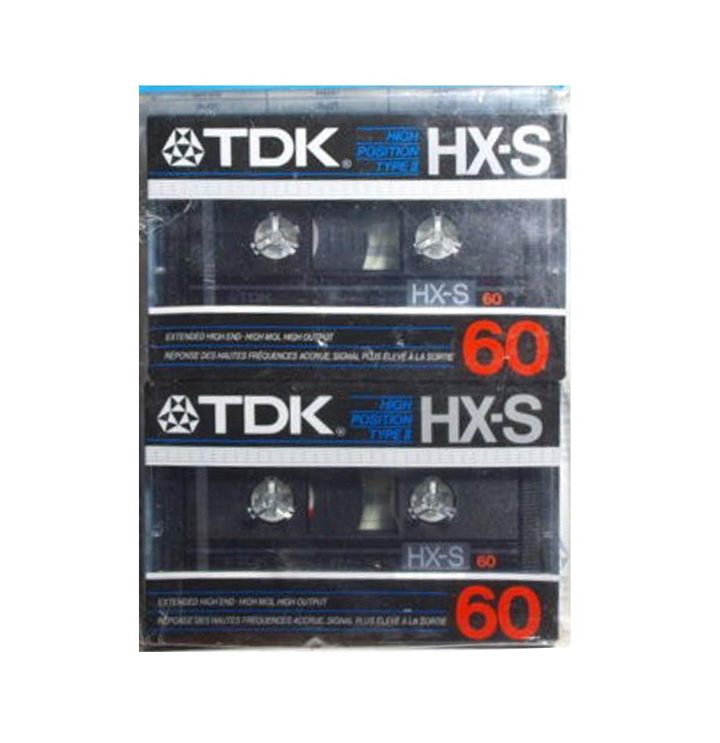 TDK HX-S High Position Type II Cassette Tape - 2pack by TDK Media
