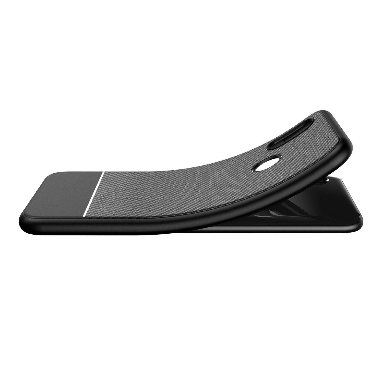 LANDEE Xiaomi mi8 Case, Ultra Slim with Carbon Fiber Design Phone Case Cover for Xiaomi Mi 8 - Black