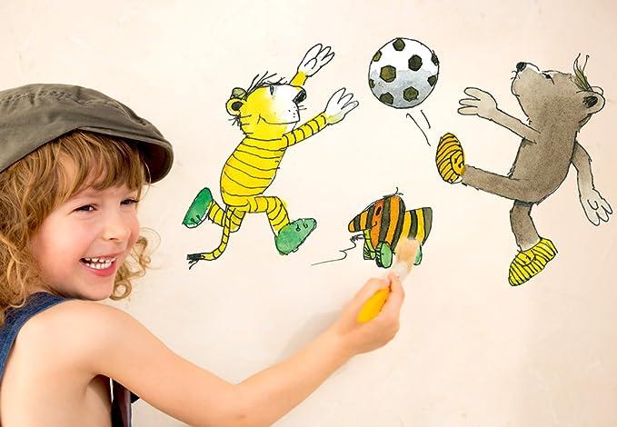 Home Decor Items Wandtattoo Kinderzimmer Wandtattoo Janosch Tiger Und Tigerente Fliegen Home Furniture Diy 5050 Pk