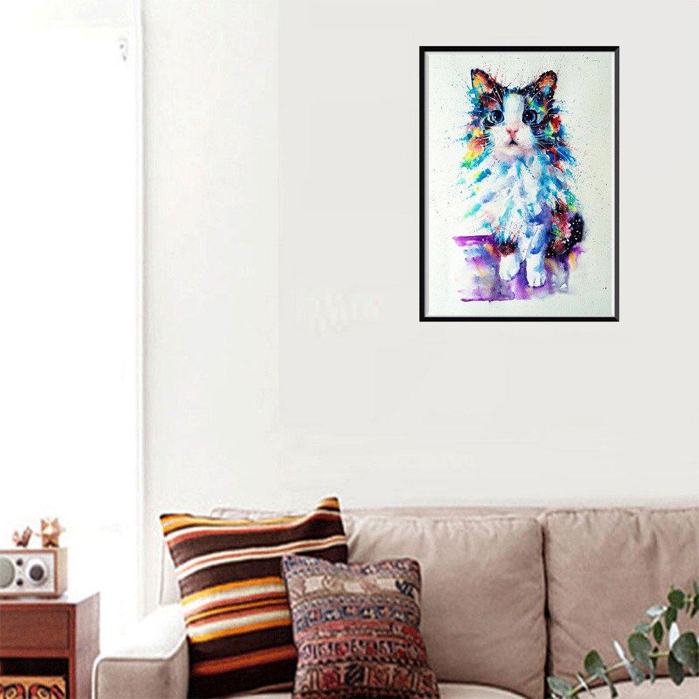 Hniunew Muebles DIY 5D Diamante Gato Painting Completo ...