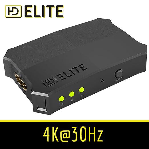 31 opinioni per HDElite- Switch HDMI- 3D Ready / Full HD 1080p (flessibile)- commutatore 3 Port