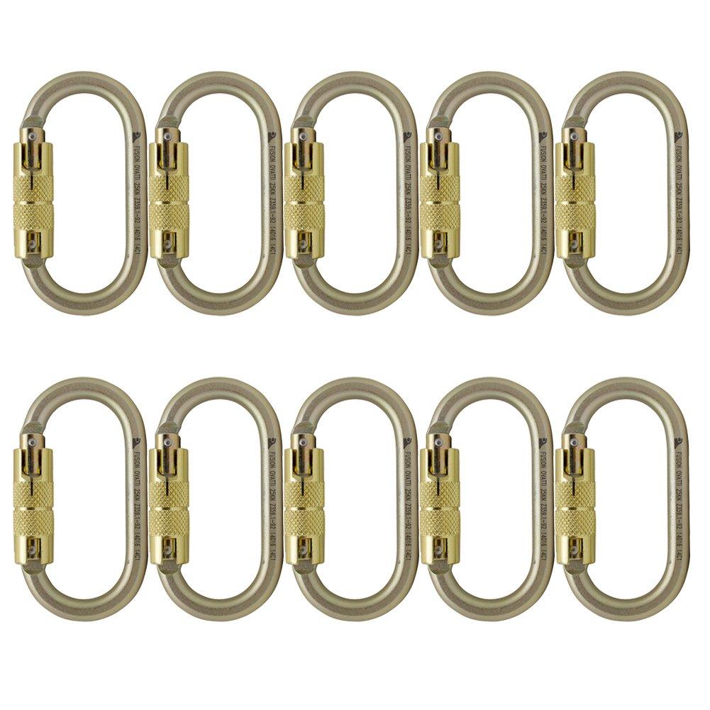 Fusion Climb Ovatti Steel Auto Lock Oval-shaped Carabiner 10-Pack