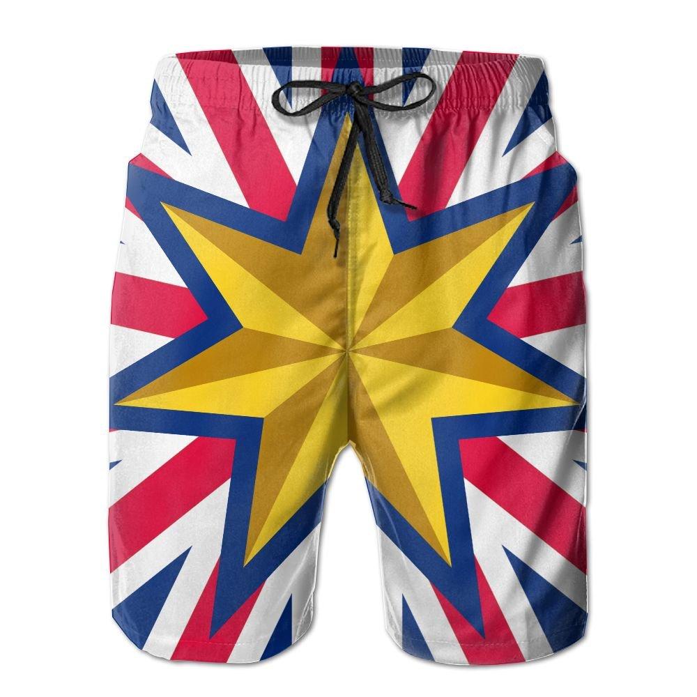 Rniom New Cartoon Fashion Federation Jack Variant Shorts Swim Trunks Casual Shorts For Man