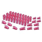 KISEER Plastic Baby Hanger Clips, 40 Pcs Slim-line Finger Clips Set for Clothes Hanger or Velvet Hanger (Pink)
