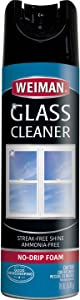 Weiman Glass Cleaner - 19 Ounce - Professional Streak Free Foaming No Drip Removes Grease Dissolves Fingerprints and Smudges