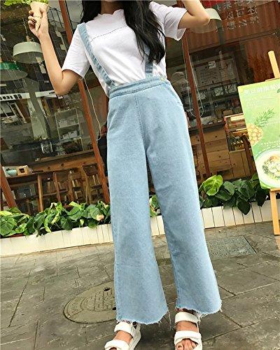 Alta Donne Larghi Vita Azzurro Gamba Pantaloni Jeans Eleganti Pantaloni Chiaro Larga qEwdUIWxf