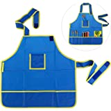 NUOLUX Pittura grembiule, Grembiule per Bambini Pittura, Impermeabile(Blue)