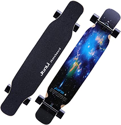 Amazon Com Pro Double Kick Deck Longboard 47 Beginners Tricks Skate Board Cruiser T Tool Suitable For Freeride Cruising Outdoor Recreation For Youths Adults Kids Sports Outdoors