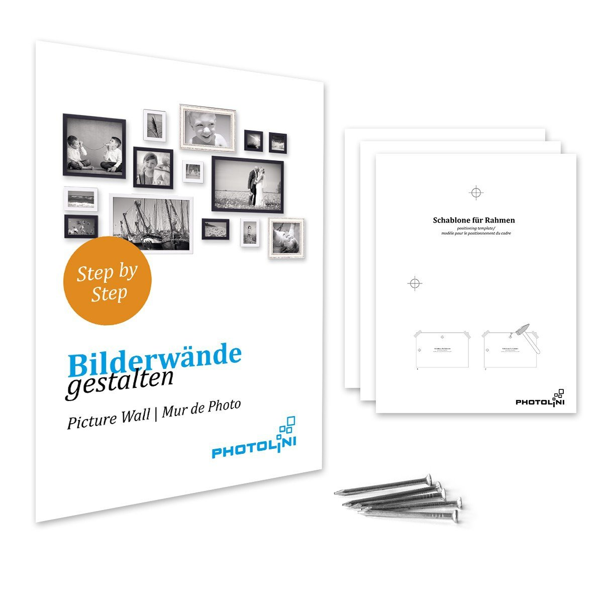 Amazon.de: PHOTOLINI Bilderrahmen 21x30 cm/DIN A4 Weiss Modern aus ...