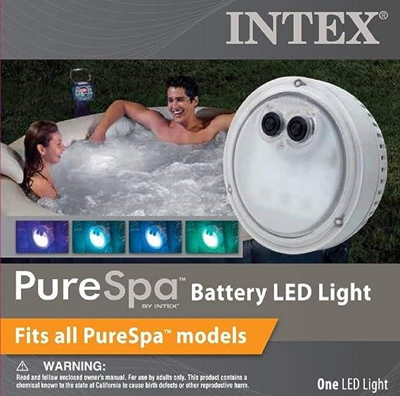 Intex B01NBYH7O8 PureSpa - Luz LED multicolor para jacuzzi y jacuzzi, multicolor: Amazon.es: Jardín
