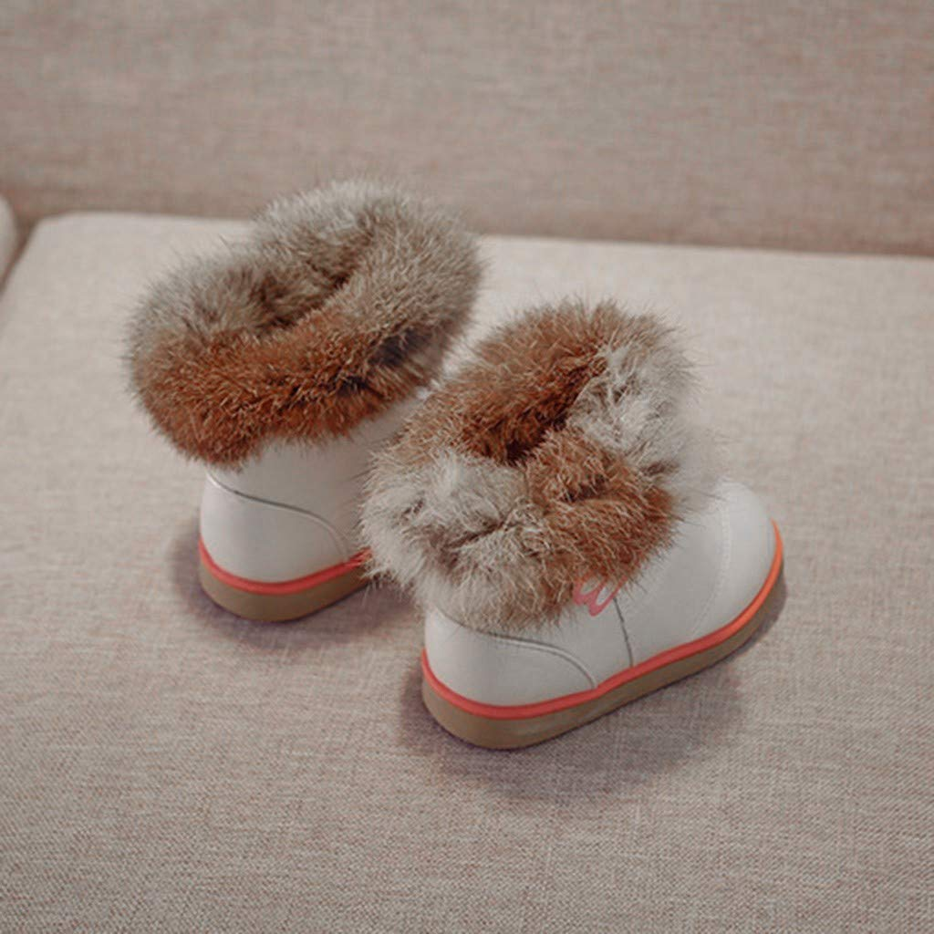 Lurryly❤2019 Kids Snow Boots Warm Shoes Fashion Winter Baby Girls Leather Anti-Slip Shoe 1-6 T