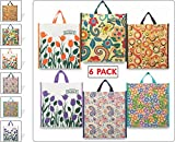 Cotton shopping bags by Double R Bags (Medium Reusable Grocery Bags)-(Pack of 6)