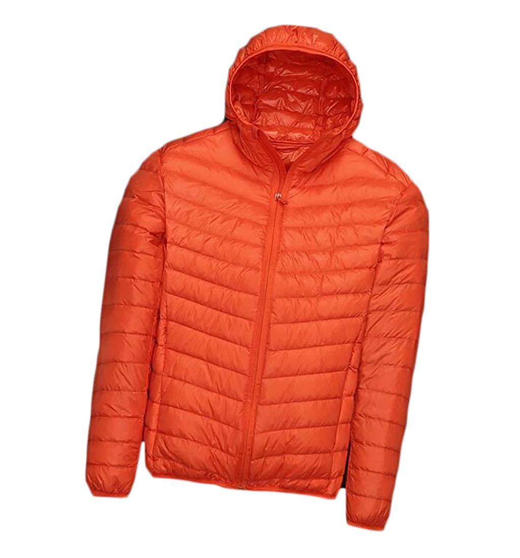 Etecredpow Mens Slim Fit Jacket Quilted Hooded Lightweigth Parkas Coats
