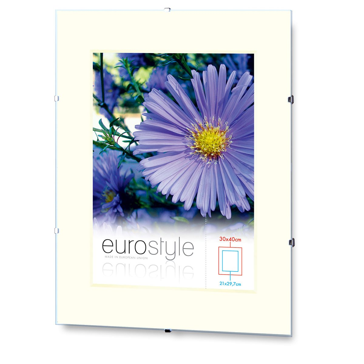 Amazon.de: Rahmenloser Bilderrahmen Bildhalter Cliprahmen 42x59, 4cm ...