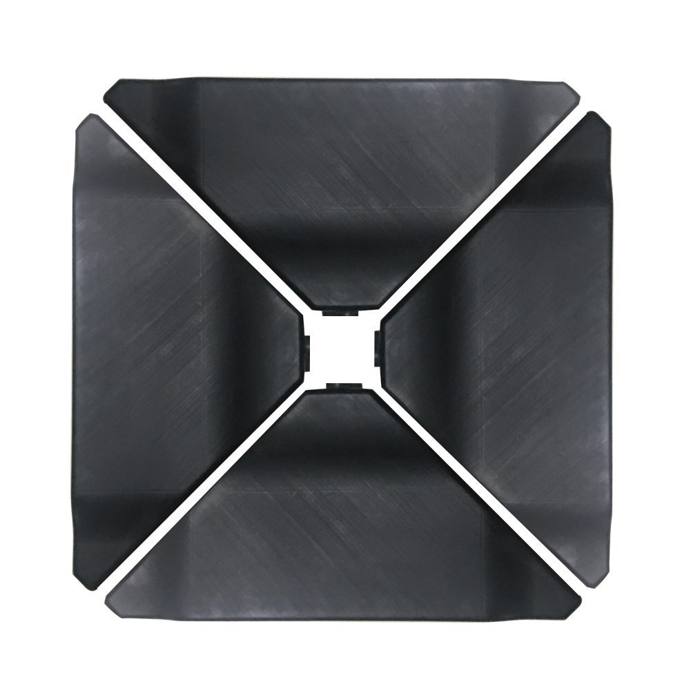 Abba Patio Cantilever Offset Umbrella Base Plate Set, Pack of 4, Black by Abba Patio