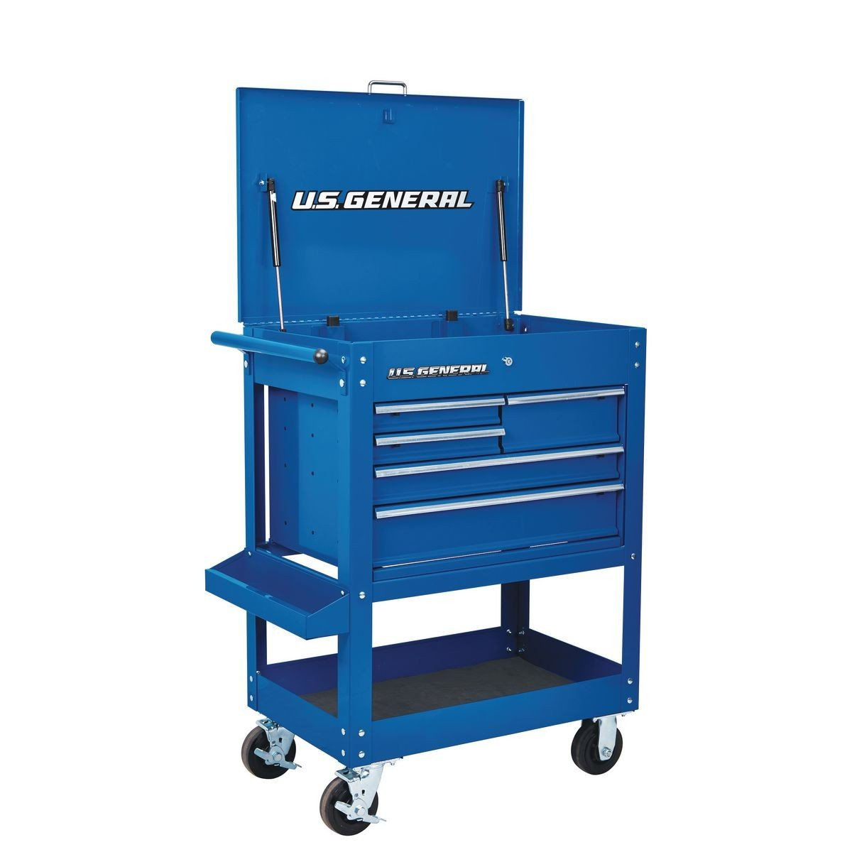 30 in. 5 Drawer Mechanic's Tool Cart Cabinet - Blue