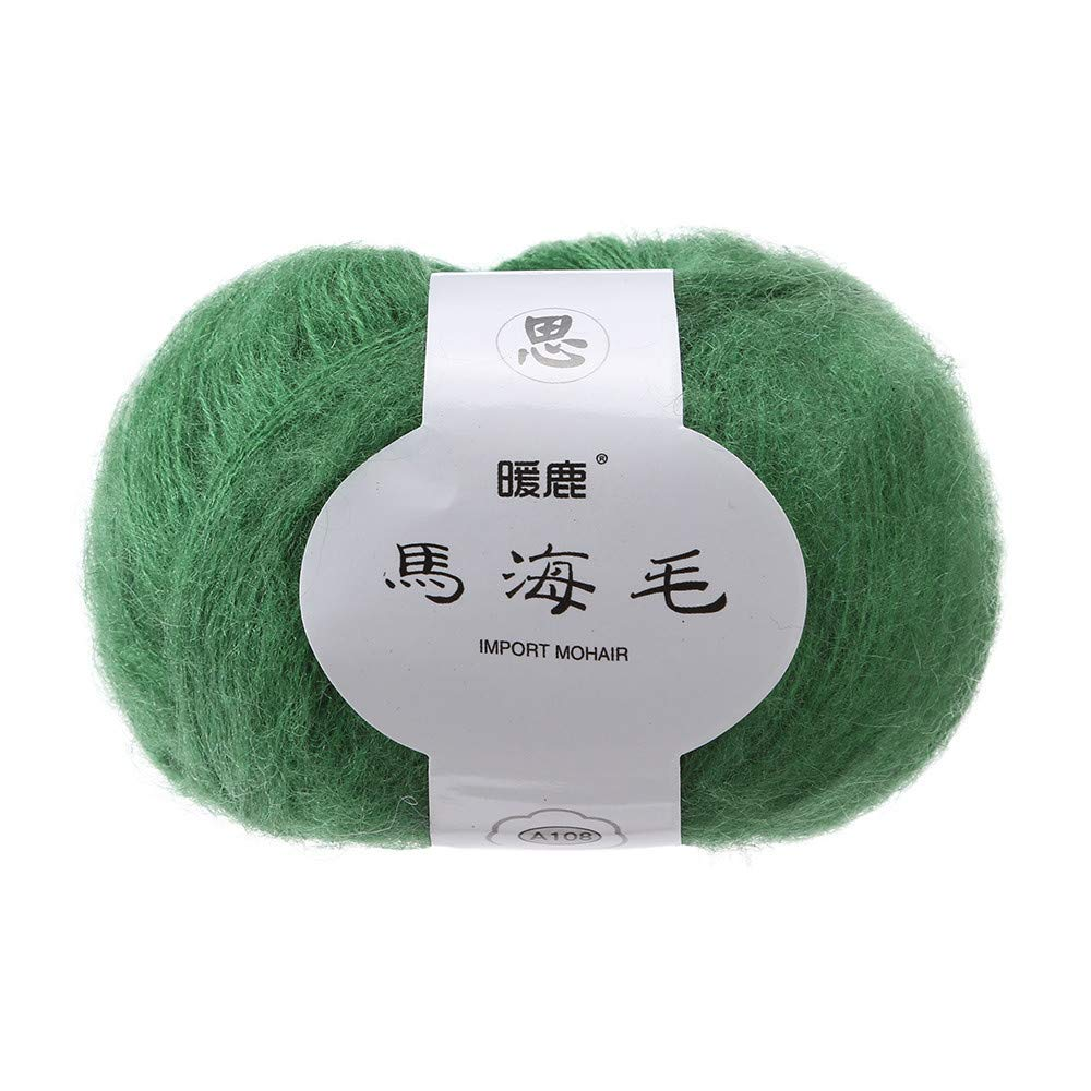 Clearance Colorful Soft Mohair Cashmere Knitting Wool Yarn Chunky Multicolor Hand-Woven Sweater Soft Natural Crochet Smooth Baby Cotton Wool Knitwear Yarn On Sale (A) Y56(TM)