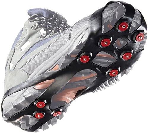 asdfwe Chaussures Bottes en Caoutchouc Ice Marche Crampons Anti Slip Stretch Chaussures Crampons Glace Neige Traction Crampons Crampons pour La Boue Humide Glace De Neige m
