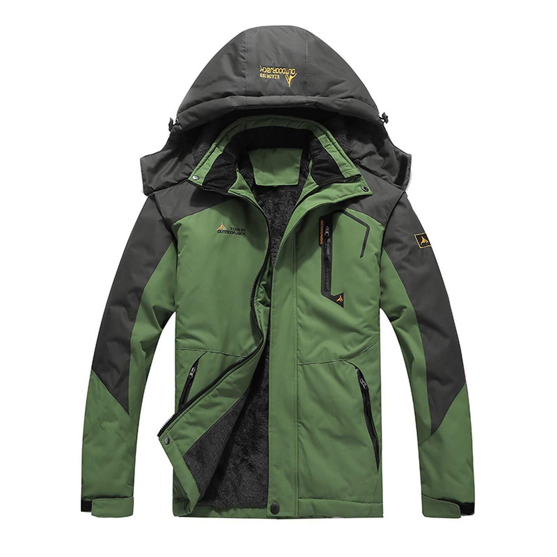 Winter Parkas Men Warm Thicken Winter Jacket Men Detachable Hood Waterproof Windproof Coat