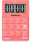 dretec(ドリテック) デジタルタイマー キュービック 音と光で時間をお知らせ 無音機能付き T-549PK ピンク