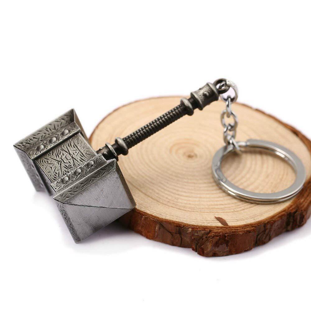 FITIONS - Ping Thor Mjolnir Hammer Metal Keychain Mjolnir ...