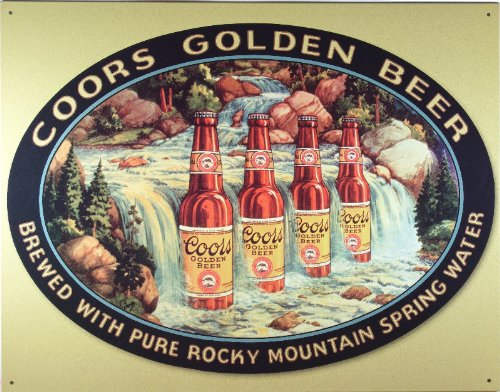 Desperate Enterprises Coors Waterfall Collectible Metal Sign, Model# 1311