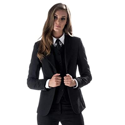 Women's 3 Piece Slim Fit Suits Set for Business Office Lady Blazer Jacket Pants: Clothing