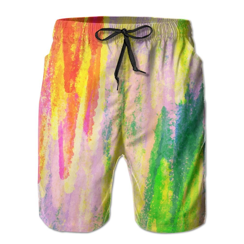 Newest - Man Camping Summer Quick Dry Board Shorts - Colorful Color
