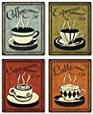 "Retro Coffee Set by N. Harbick 8""x10"" Art Print Poster"