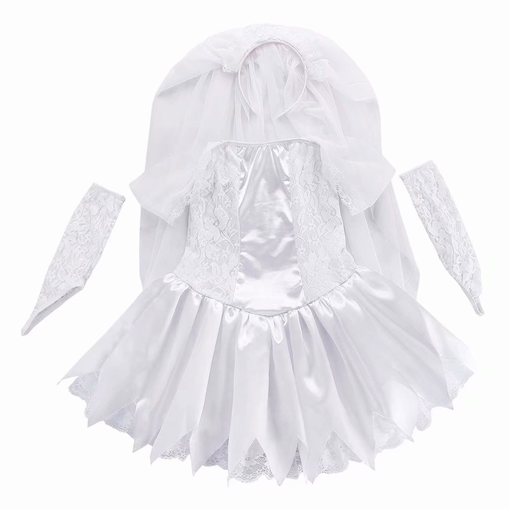 Girls Ghost bride Halloween Cosplay Costume Wedding Party Dress by Tsyllyp (Image #3)