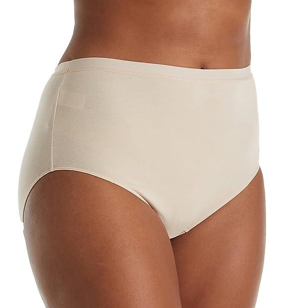 a17fdf045e2 Elita Plus Size Cotton Hi-Cut Brief Panty (6043) at Amazon Women's Clothing  store: