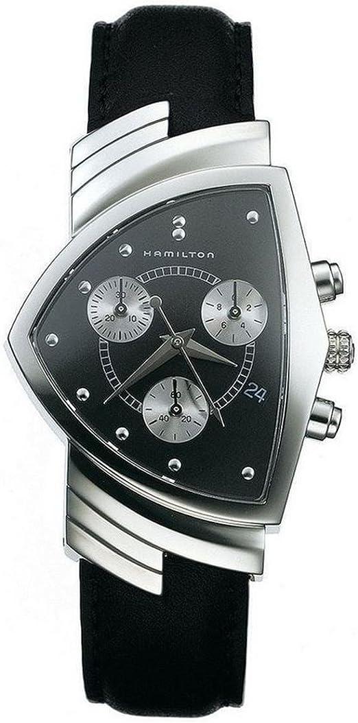 Hamilton orologio cronografo quarzo uomo con cinturino in pelle h24412732