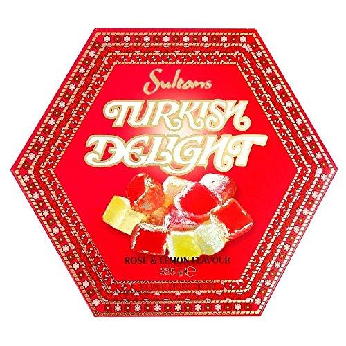 Sultans Turkish Delight Rose & Lemon Flavour (325g) - Pack of 6