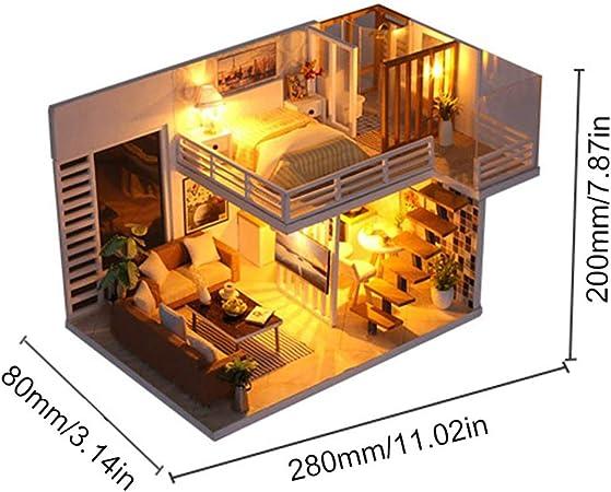 Tree-on-Life Elegante Muebles de Madera Casa DIY Caja Miniatura Puzzle Montar 3D Miniaturas Dollhouse Kits Juguetes para Niños Regalo de Cumpleaños: Amazon.es: Hogar