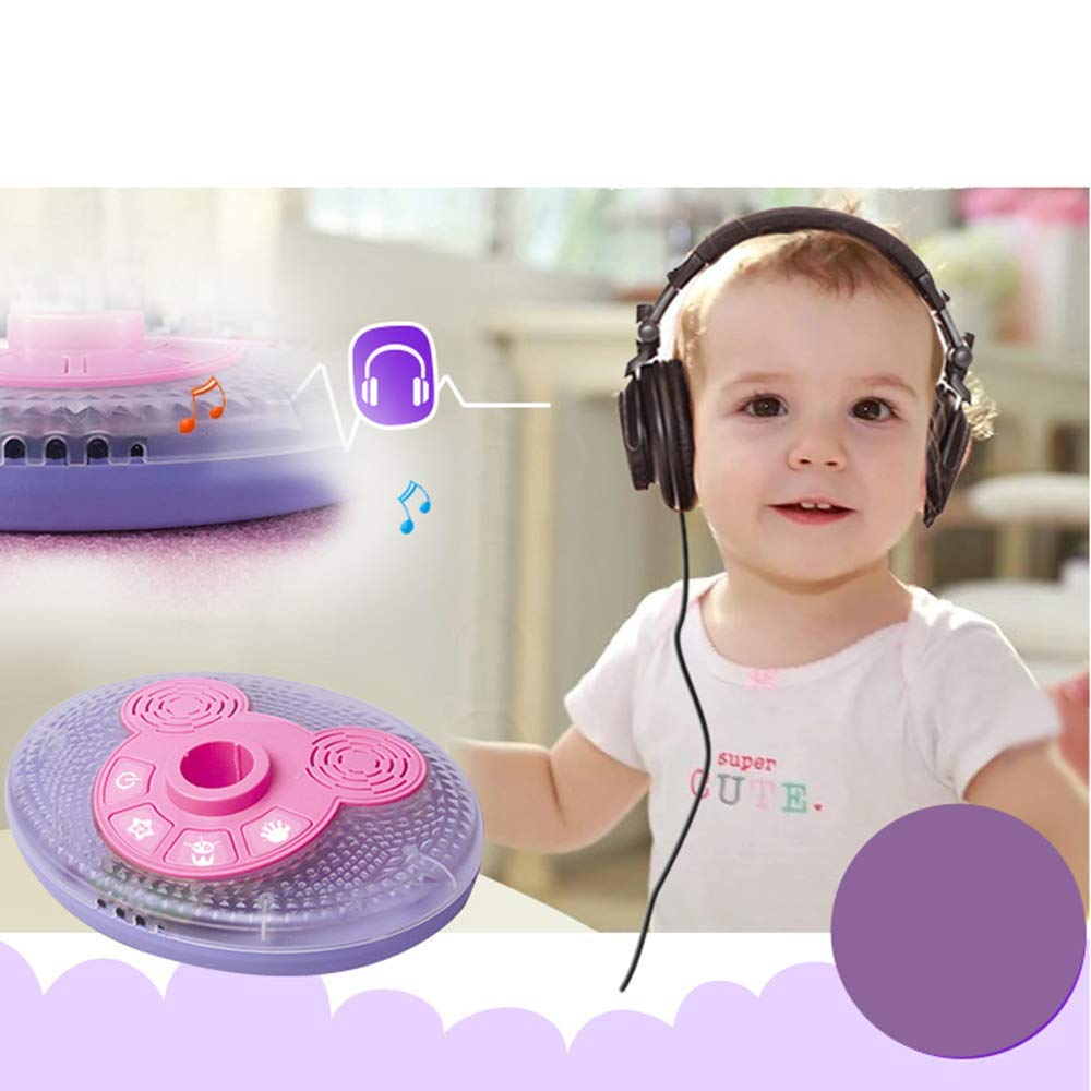 YuHuaFUShi Kids Karaoke Machine, Microphone with Adjustable Stand Singing Karaoke Machine for Toddler Girls (Pink) by YuHuaFUShi (Image #2)