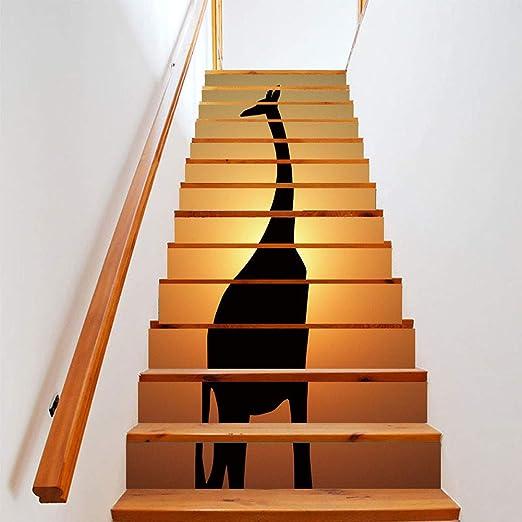 Papel tapiz FANGQIAO SHOP 13 Unidades Simulación Creativa Jirafa Negra Personalidad Decorativa Creativa Pegatinas de Pared Pegatinas de Escalera Arte Decoración de Tela de Pared 18 * 100 cm: Amazon.es: Hogar