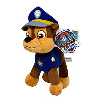Patrulla canina (PAW PATROL) - Peluche personaje Chase, Pastor Aleman Policia (26cm