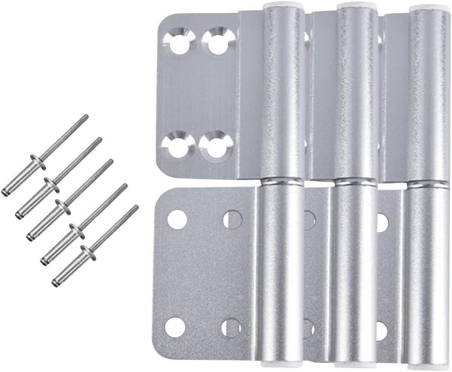 Gtagain Baño Puerta Bisagras - 3PCS Aluminio Aleación Plegable Desmontable Tope Bisagra para Ventana Armario Puerta Reja Gabinete