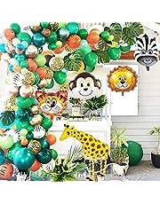 OuMuaMua Jungle Safari Animal Birthday, Baby Shower,Animal Theme Party Decorations