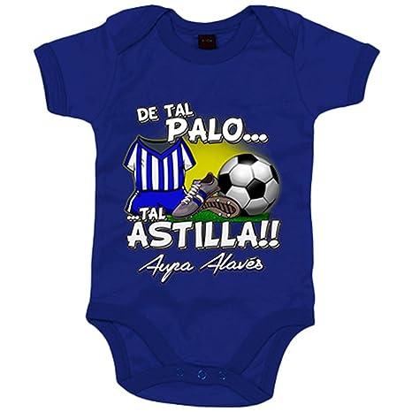Body bebé De tal palo tal astilla Alaves fútbol - Azul Royal, 6-12