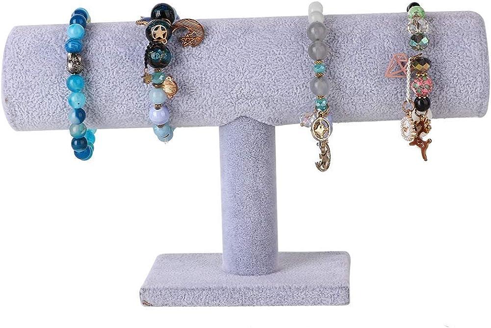 pr/ésentoir /à Bijoux pour Organisation familiale Bracelets et Autres Accessoires Velours Noir Support de Rangement Duevin Pr/ésentoir pour Bijoux Convient aux Colliers