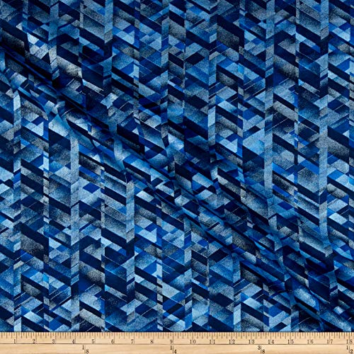 Blue Prism Pearl - Benartex Kanvas Essentials Pearl Prism Texture CobaltBlue Cobalt Blue, Fabric by the Yard