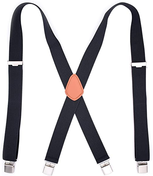 Back Suspenders Adjustable Long /& Elastic Braces Fashion Men's Heavy Duty X