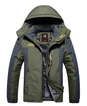 d94089bfb Amazon.com: HOOHAY Men's and Women's Waterproof Mountain Fleece Outdoor  Jacket: Clothing