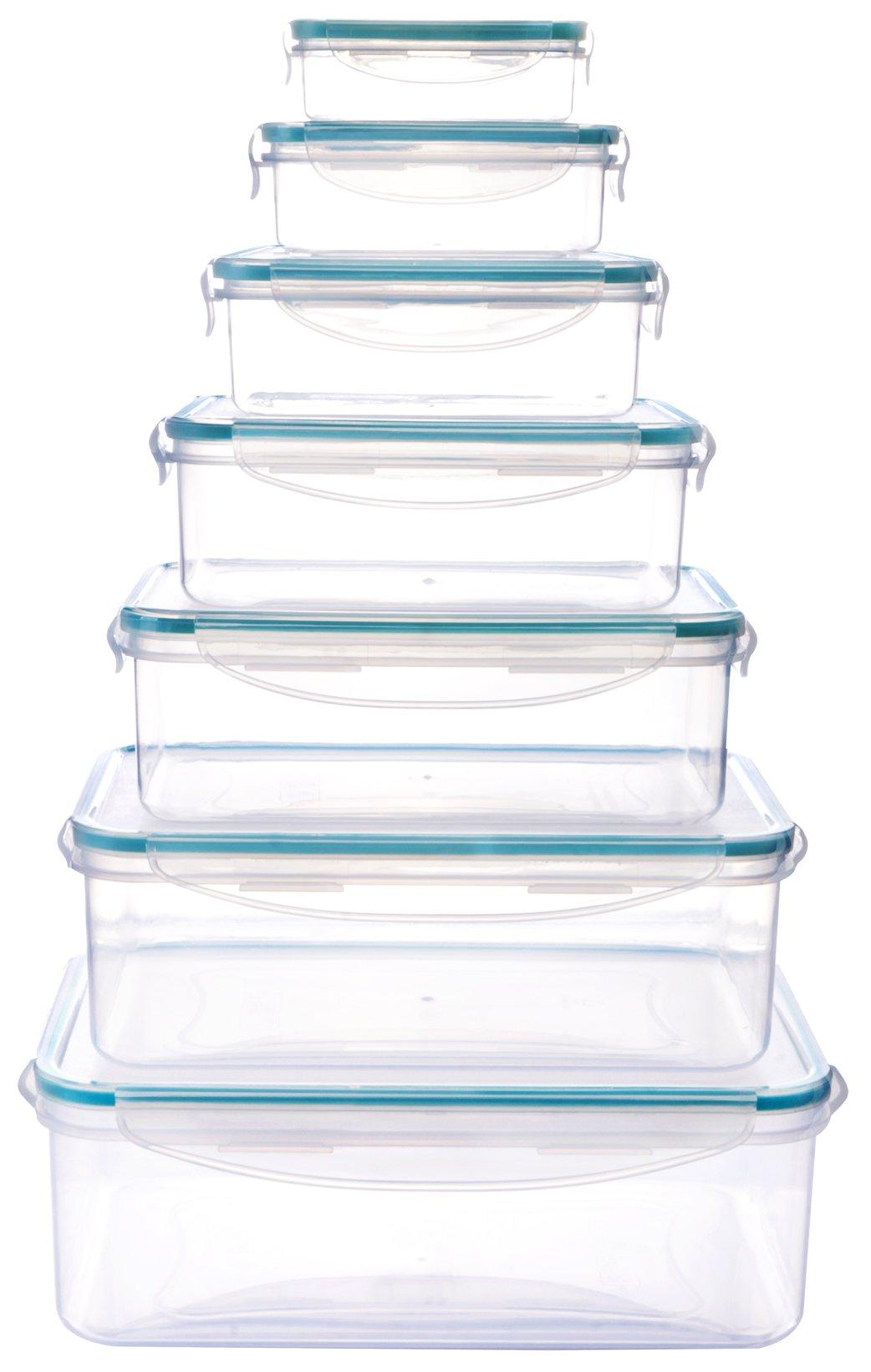 Plastic Food Storage Container Set (14 pieces - 7 containers u0026 7 lids) -  sc 1 st  TIBS & Plastic Food Storage Container Set (14 pieces - 7 containers u0026 7 ...