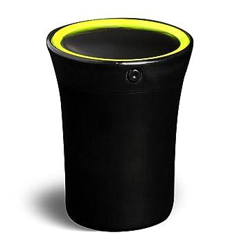 Cenicero del Cigarrillo del coche Encendedor de Cigarrillos auto Portátil con luz LED azul Cable de carga USB para la Mayoría del Portavasos: Amazon.es: ...