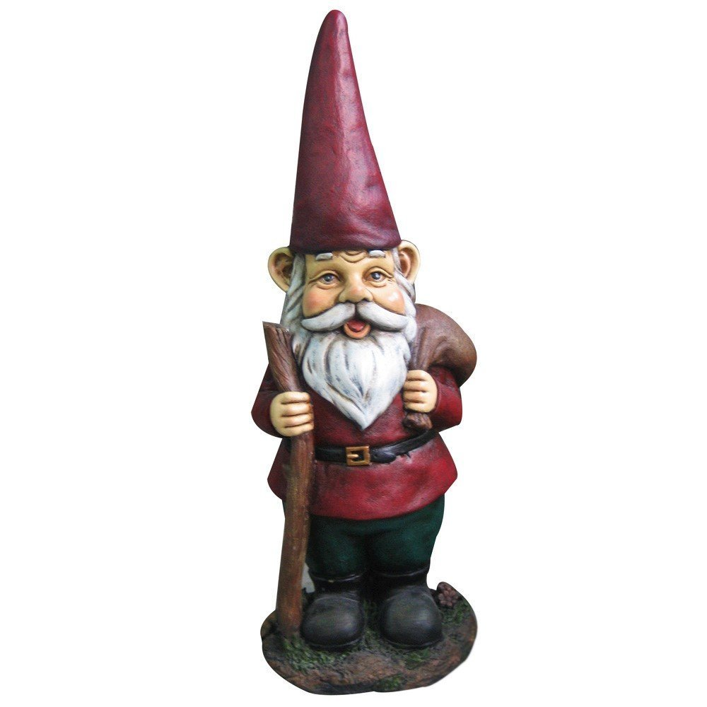 15'' Garden Gnome w/ Walking Stick